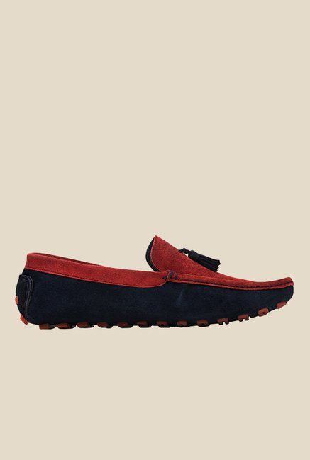 Kielz Red & Navy Moccasins