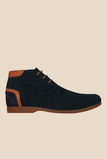 Kielz Navy & Orange Chukka Boots