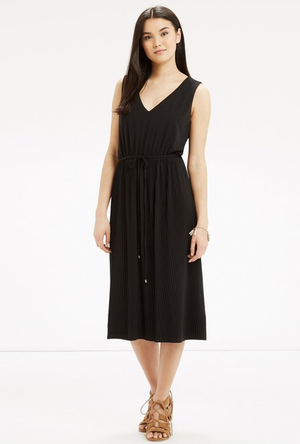 Oasis Black Solid Dress