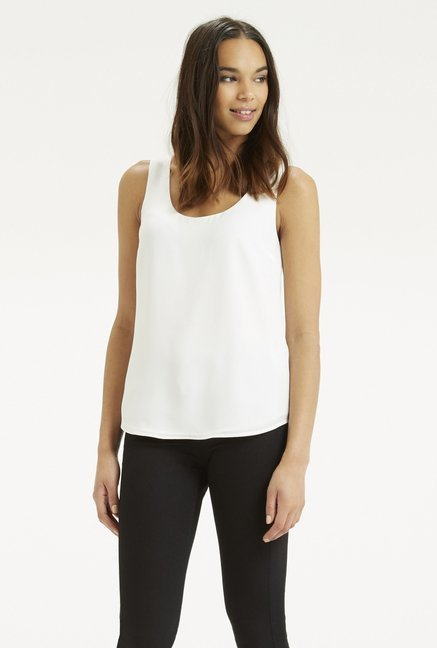 Oasis White Solid Top