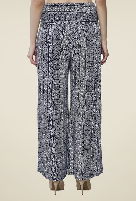 AND Blue Printed Palazzos