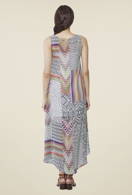 AND Multicolor Printed Boat Neck Dress