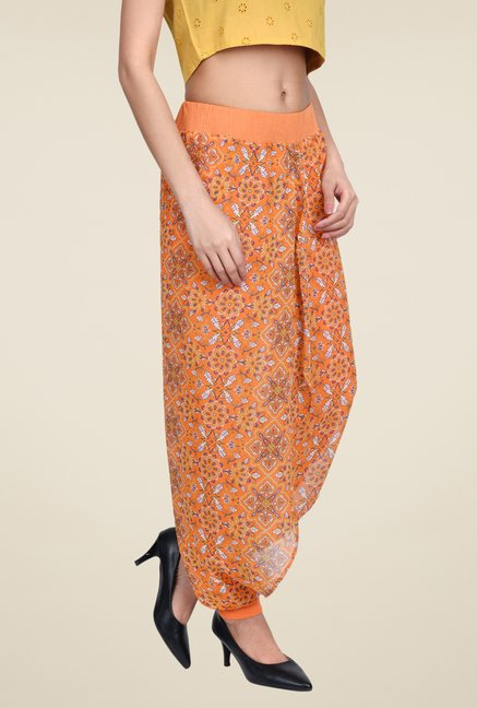 Juniper Orange Floral Print Pants