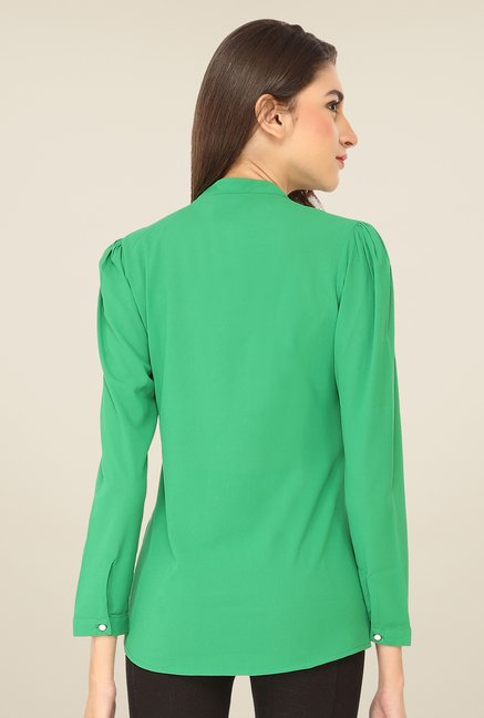Soie Green Solid Top