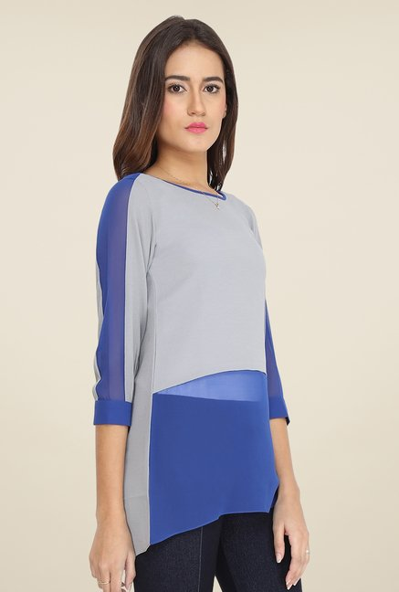 Soie Grey Solid Top