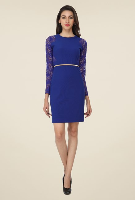 Soie Blue Lace Dress