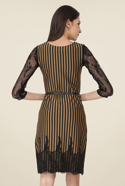 Soie Brown Striped Dress