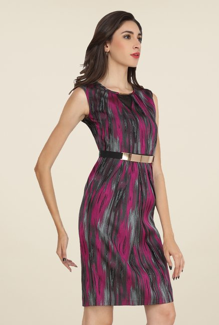 Soie Pink Printed Dress