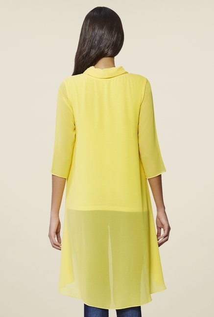 AND Yellow Solid Tunic