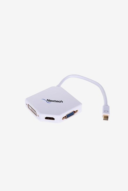 Nextech NA15 3-in-1 HDMI, VGA and DVI Adapter (White)