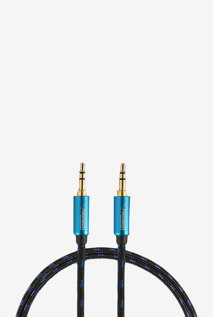 Nextech NC12BK Braided Stereo Aux Cable (Black)