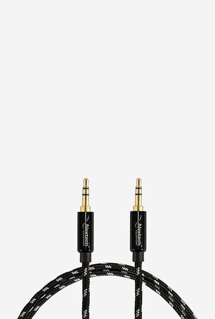 Nextech NC12WH Braided Stereo Aux Cable (Black)