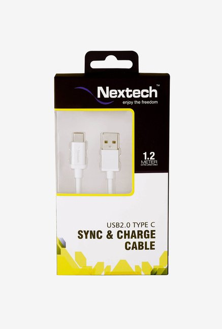 Nextech NC70SL USB 2.0 Type-C Sync and Charge Cable (White)
