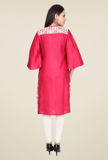 Juniper Red Printed Kurta