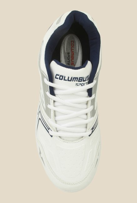 Columbus FM-12 White & Navy Running Shoes