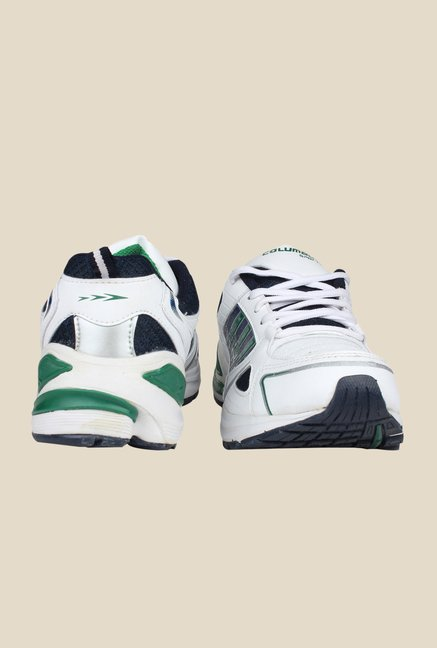 Columbus LD-009 White & Green Training Shoes