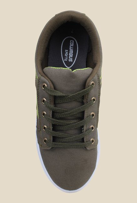 Columbus Canvas-2 Olive Green Sneakers