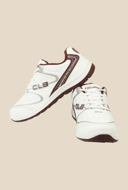 Columbus FM-7 White & Grey Running Shoes