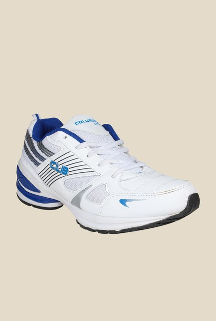 Columbus LD-008 White & Royal Blue Training Shoes