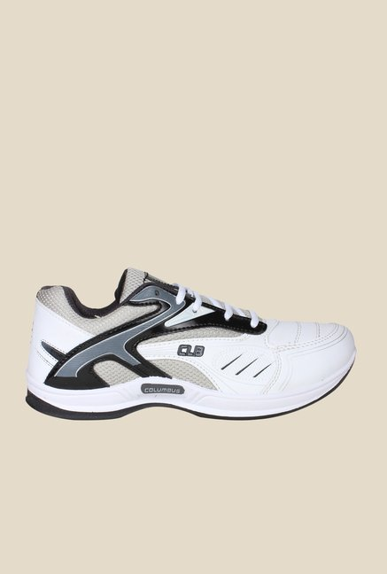 Columbus Tab-2001 White & Black Running Shoes
