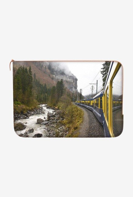 "DailyObjects Tripping Train Macbook Air 13"" Zippered Sleeve"