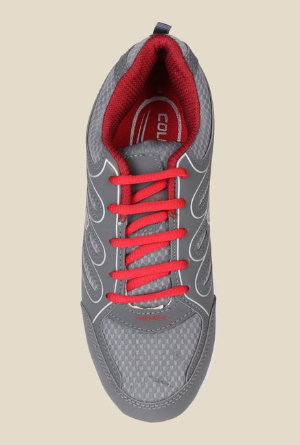 Columbus Tab-2005 Grey & Red Running Shoes