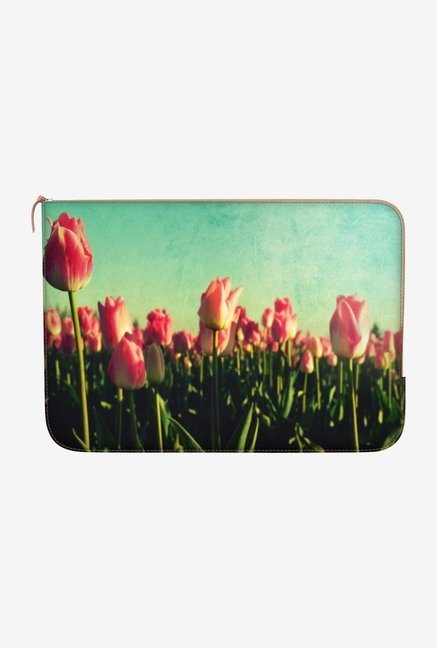 "DailyObjects Tulip Garden Macbook Air 11"" Zippered Sleeve"