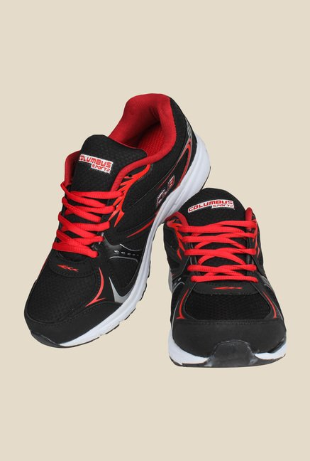 Columbus Black & Red Training Shoes