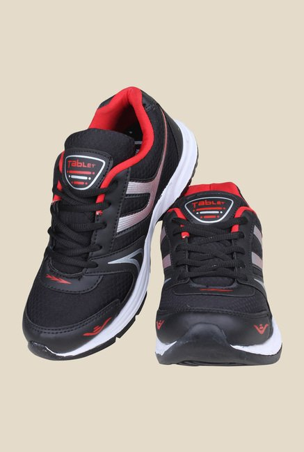 Columbus TB-3 Black & Red Running Shoes
