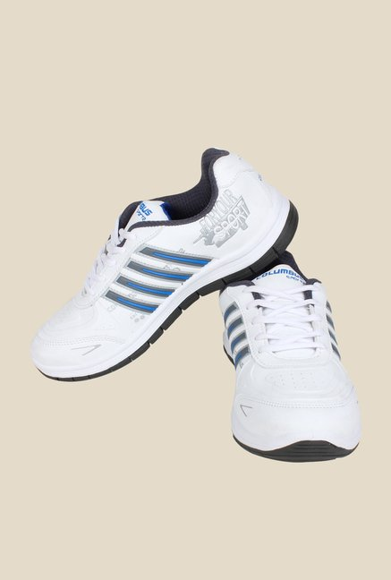 Columbus FM-11 White & Blue Running Shoes