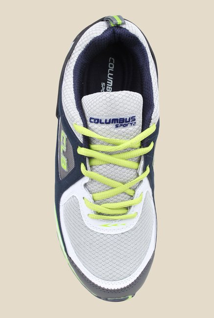 Columbus Sam White & Navy Training Shoes