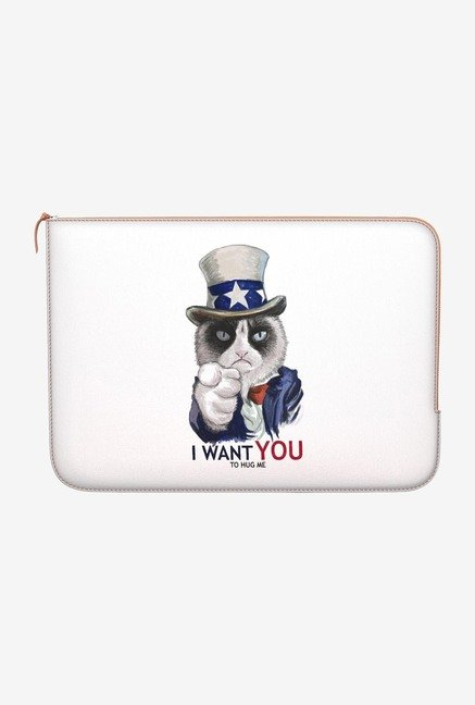 "DailyObjects Uncle Sam Cat Macbook 12"" Zippered Sleeve"
