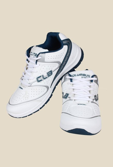 Columbus FM-7 White & Navy Running Shoes