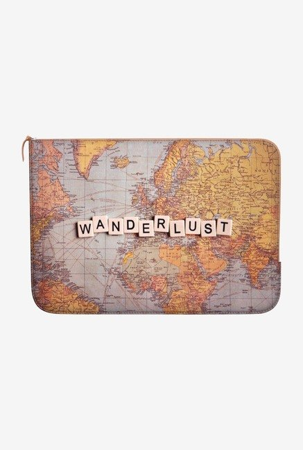 "DailyObjects Wanderlust Map Macbook Pro 13"" Zippered Sleeve"