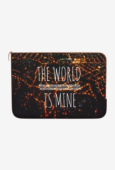"DailyObjects World Is Mine Macbook Air 13"" Zippered Sleeve"