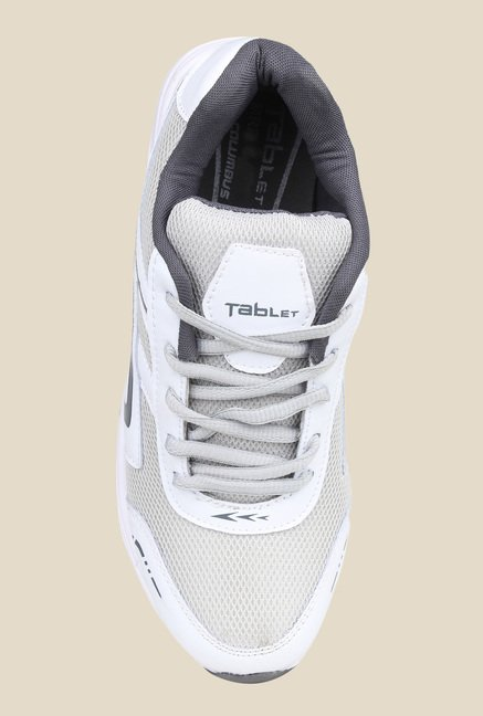 Columbus TB-8 White & Light Grey Running Shoes