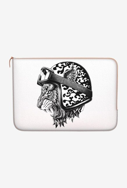 "DailyObjects Tiger Helm Macbook Air 11"" Zippered Sleeve"