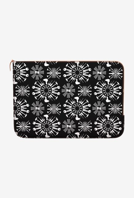 "DailyObjects Tools Black Macbook Pro 15"" Zippered Sleeve"