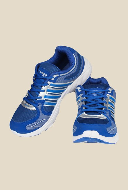 Columbus Brass Royal Blue & Silver Running Shoes