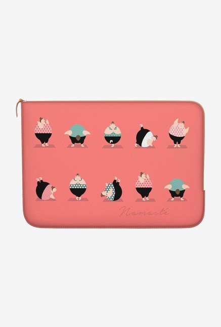 "DailyObjects Yoga Namaste Macbook Pro 15"" Zippered Sleeve"