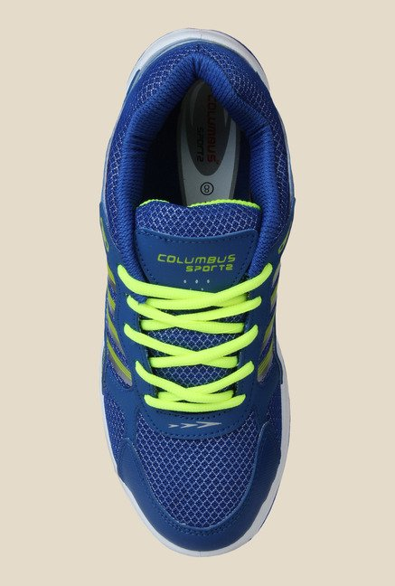 Columbus FM-5 Blue & Green Running Shoes