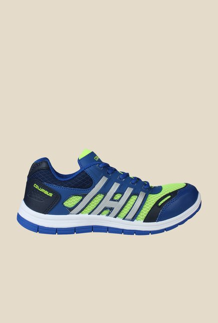 Columbus FM-6 Blue & Green Running Shoes