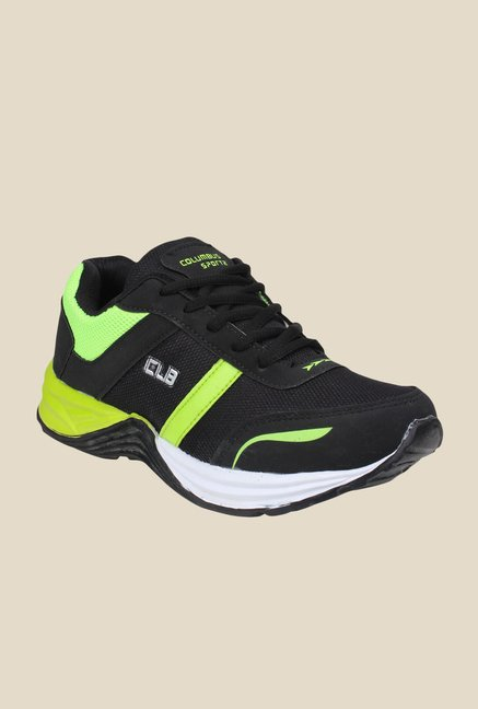 Columbus TB-18 Black & Green Running Shoes