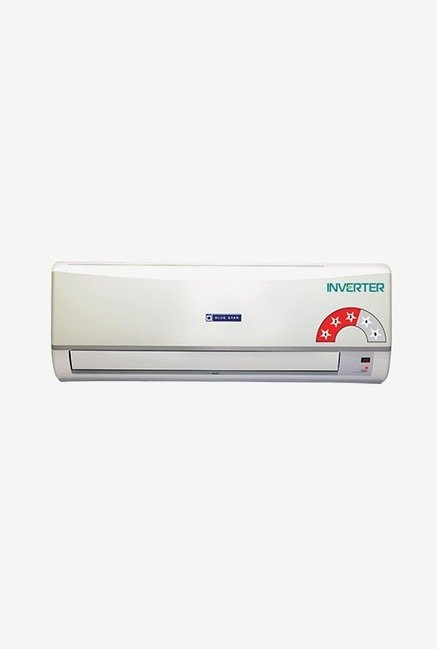 Blue Star 3CNHW09CAFU 0.75 Ton Inverter AC Copper (White)