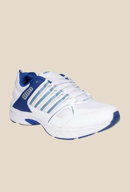 Columbus LD-010 White & Royal Blue Training Shoes