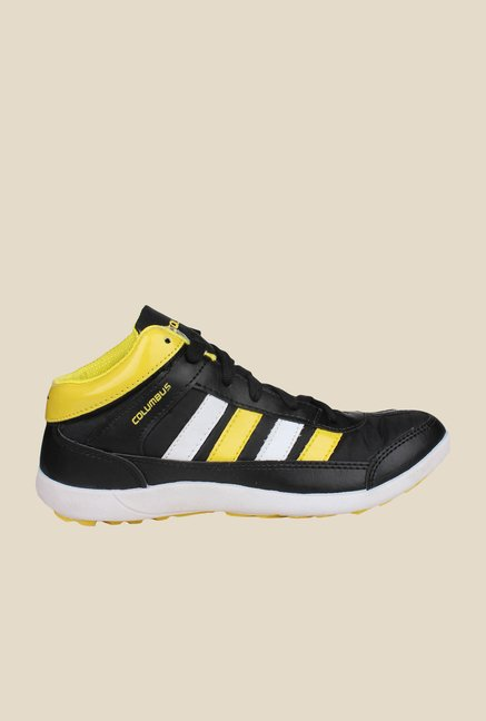 Columbus Lucky-7 Black & Yellow Ankle High Sneakers