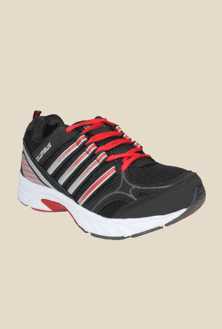Columbus Forever Black & Red Training Shoes