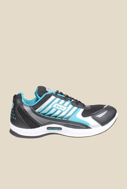 Columbus Tab-2006 Black & Turquoise Running Shoes