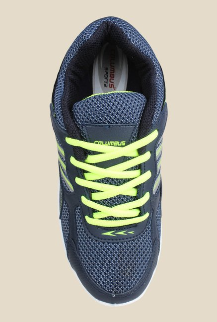 Columbus FM-5 Navy & Green Running Shoes