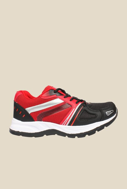 Columbus TB-24 Black & Red Running Shoes